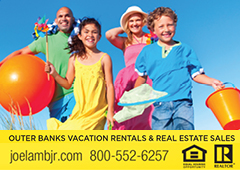 Advertisement - Outer BAnks Vacation Rentals - https://www.joelambjr.com/